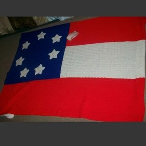 First National Confederate Flag Afghan Blanket Han